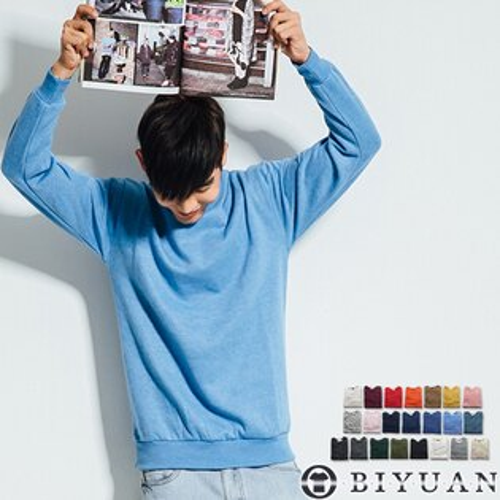 MIT不起毛球刷毛大學T【SP1688】OBIYUAN重磅素面長袖T恤獨家22色