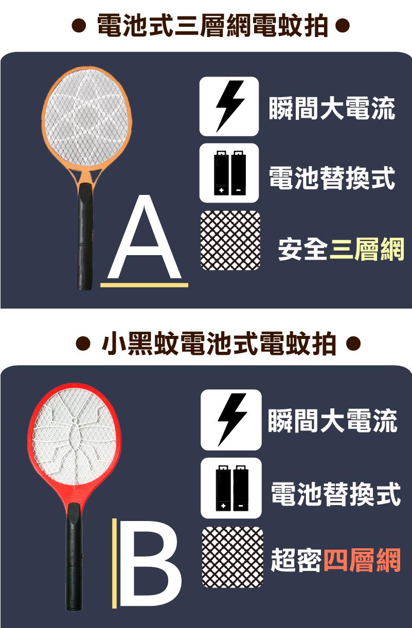 【電池式電蚊拍】電蚊拍 捕蚊拍 捕蚊燈 滅蚊燈 小黑蚊電蚊拍【AB270】 4
