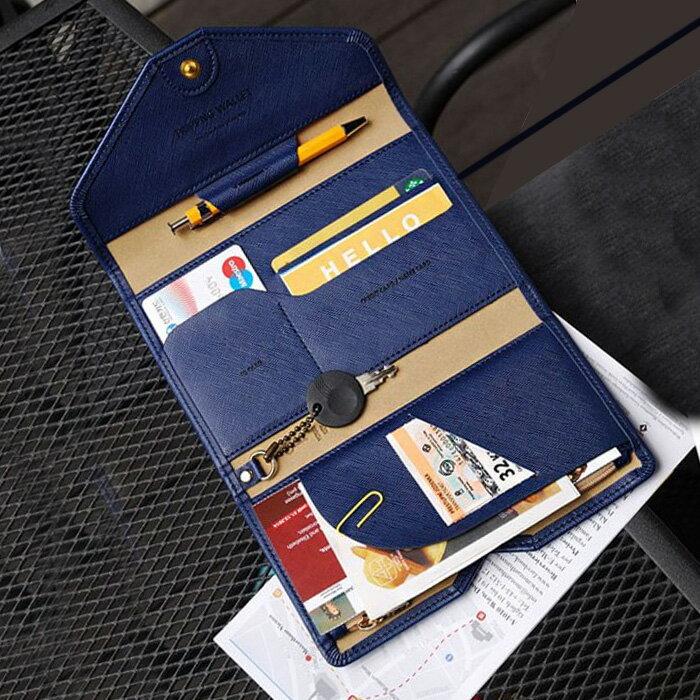 【酷創意】韓版 證件護照 短款皮夾 卡片夾 皮夾(E407)