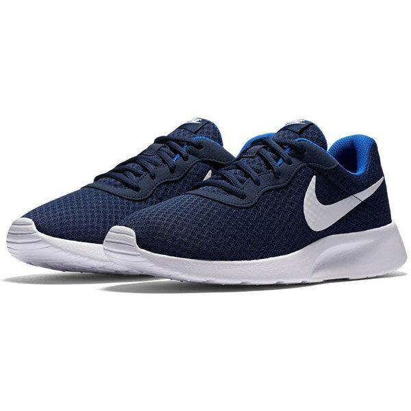 【NIKE】NIKE TANJUN 休閒鞋 輕量 透氣網布 藍色 男鞋 -812654414