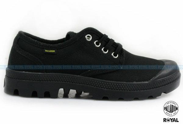 Palladium 新竹皇家 PAMPA OX ORIGINALE 黑色 布質 原創經典系列 休閒鞋 低筒 男女款 NO.A8505
