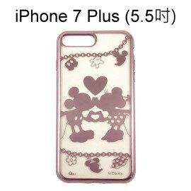迪士尼電鍍軟殼[項鍊]米奇米妮 iPhone 7 Plus (5.5吋)【Disney正版授權】