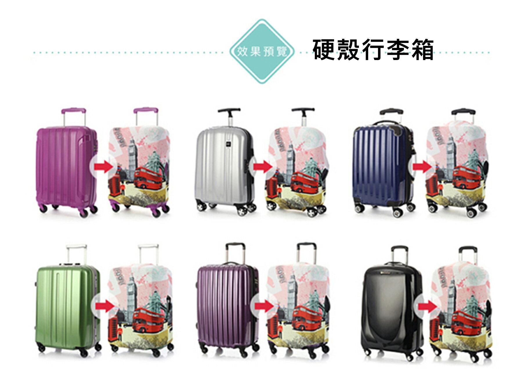 【Intermission】LCS374 海洋生態 外銷日本 彈力保護套 行李箱套 旅行箱防塵罩 防塵套 特殊圖案(M 、L號 行李箱) 8