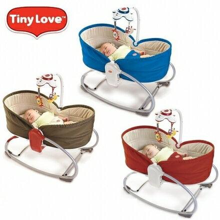 【送造型初生襪】美國 Tiny Love 三合一安撫舒眠搖床 嬰兒床 震動搖椅@六甲媽咪