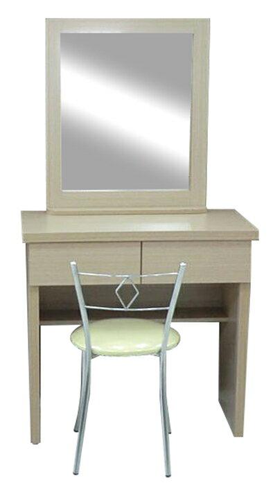 ~尚品傢俱~GF~R03 百合 白橡 2.6尺 鏡台 化妝台 化妝桌^~含椅 ^( 胡桃色