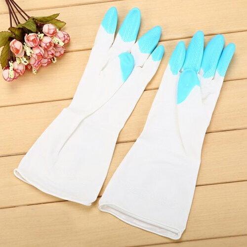 PS Mall 舒婷 家務清潔橡膠手套 加厚家用乳膠防水洗碗手套【J1965】 3