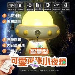 飛碟造型遙控LED小夜燈