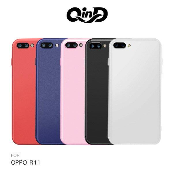 強尼拍賣~ QinD OPPO R11  新升級 360度全包 微磨砂軟套