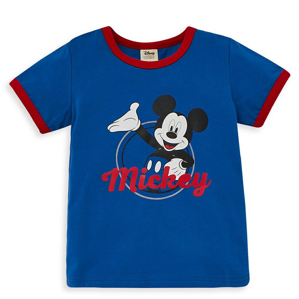 Disney 米奇系列歡樂圈圈上衣-牛仔藍