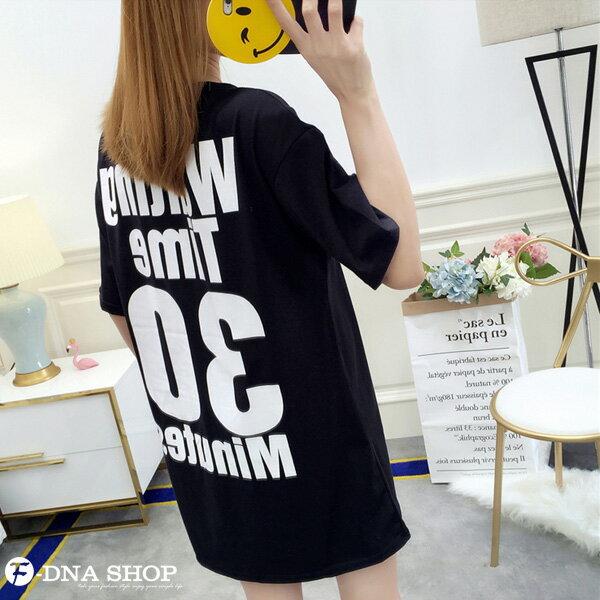 F-DNA★Waiting前後印字長版上衣圓領短袖T恤(3色-M-2XL)【ET12711】 5