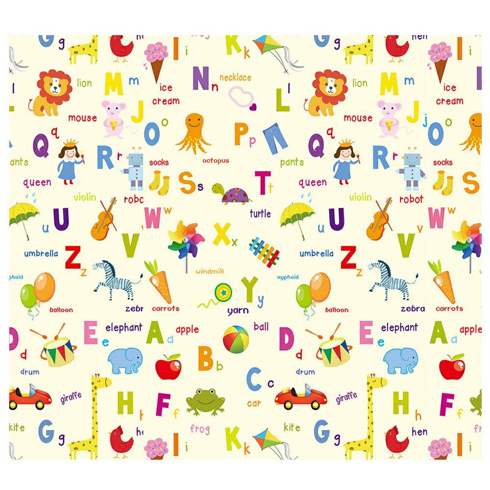 泰山美龍 兒童遊戲地墊 (繽紛字母+動物學員) 180*200*1.5cm【淘氣寶寶】 1