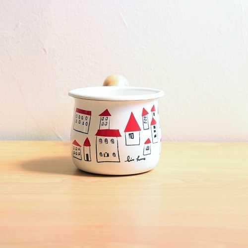 Plune.豊琺瑯 - 紅頂屋琺瑯牛奶鍋