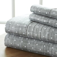 Home Collection Ultra Soft 4 Piece Polka Dot Bed Sheet Set