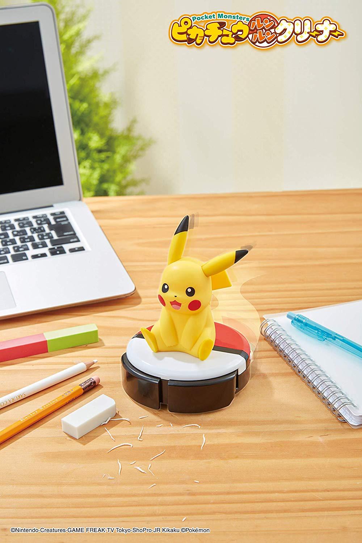 日本SHINE 寶可夢 神奇寶貝 皮卡丘 桌上型 吸塵器 -日本必買 日本樂天代購(6911) 1