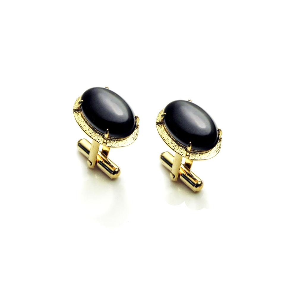 大東山珠寶 黑色帥氣 仕紳系列 黑瑪瑙  西裝領徽 袖扣 1