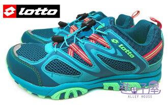 【巷子屋】義大利第一品牌-LOTTO樂得 女款透氣山水車三棲鞋 [3596] 孔雀藍 超值價$690