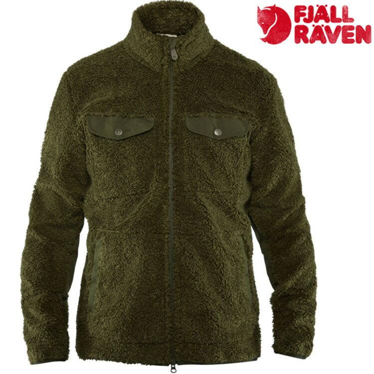 Fjallraven 瑞典北極狐 刷毛夾克/保暖外套/中層衣 Greenland Pile 男款 82993 662 深森綠
