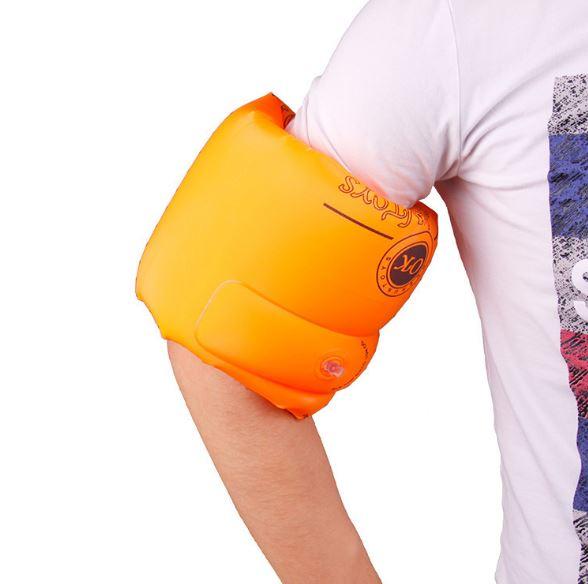 【省錢博士】加厚手臂圈雙氣囊 / 游泳水袖充氣浮圈 / 浮漂救生學游泳圈