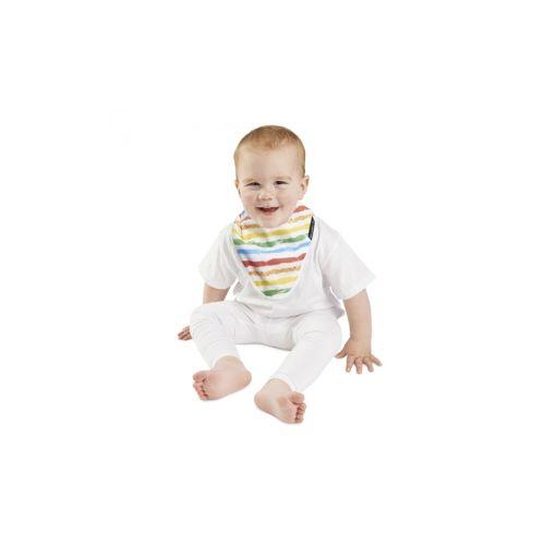 紐西蘭 Mum 2 Mum 雙面竹纖維棉機能口水巾圍兜-彩虹/星星★衛立兒生活館★
