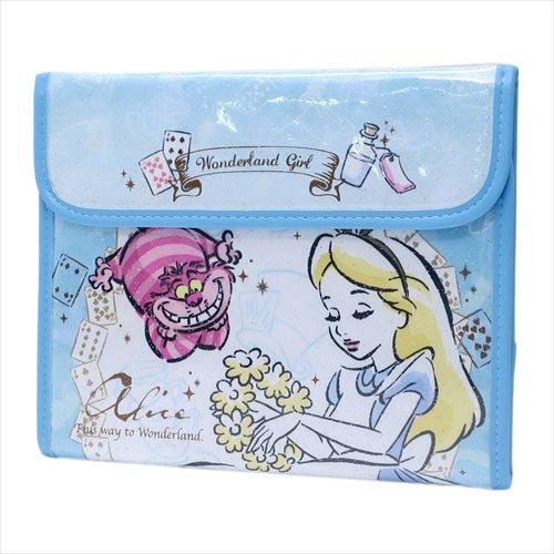日貨 母子手冊 愛麗絲 子母錢包 子母手帳 證件套 存摺 迪士尼 ALICE 夢遊仙境 正版 J00015116