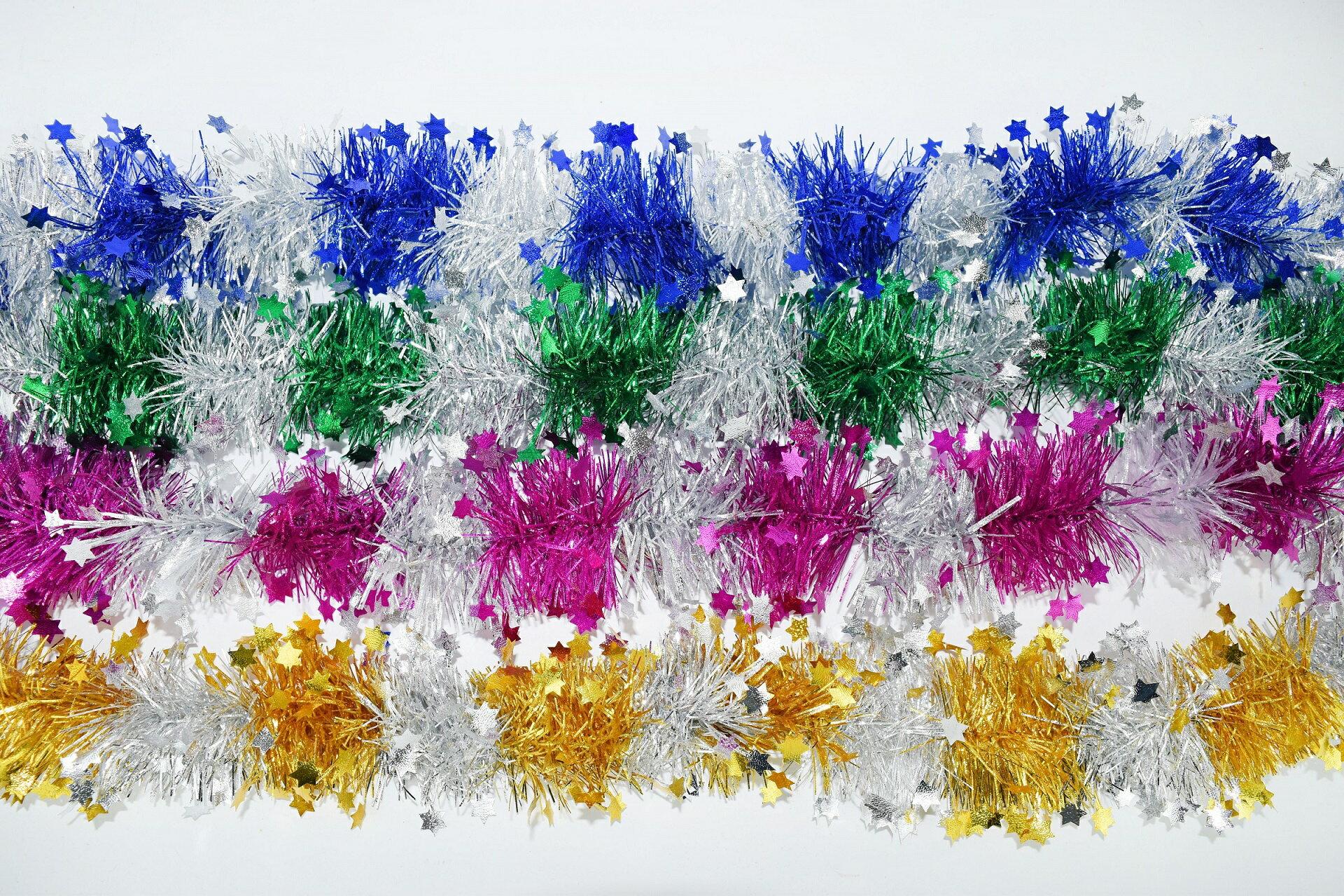 X射線 段色五星金蔥彩條(綜合下標區),聖誕節/彩條/佈置/裝飾/擺飾/會場佈置/交換禮物/金蔥條/櫥窗/店面裝飾/道具/吊飾