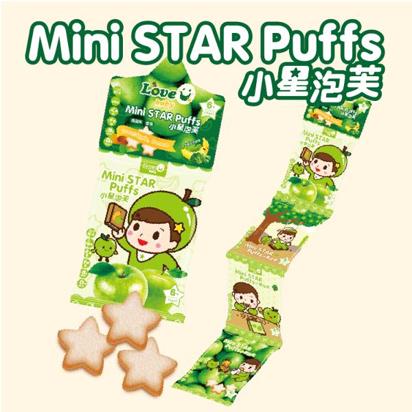 【淘氣寶寶】米大師小星泡芙-青蘋果香蕉口味(4連包)