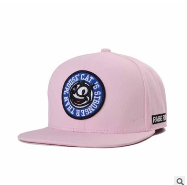 50%OFF【E013112H】韓版粉色女式棒球帽菲力克斯貓潮牌平沿帽嘻哈帽男女青年帽潮
