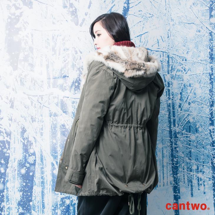 can兔毛兩穿式連帽外套(共二色) 3