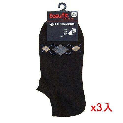 <br/><br/>  EF細針菱形襪-黑(22~24cm)*3雙組【愛買】<br/><br/>