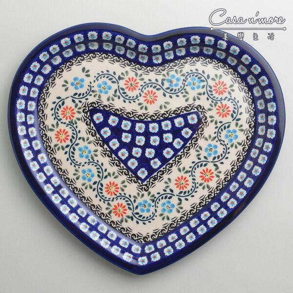 波蘭陶典雅花團系列愛心造型餐盤陶瓷盤菜盤水果盤點心盤波蘭手工製