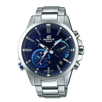 CASIO EDIFICE EQB-700D-2A湛藍藍牙時尚腕錶/藍面48.2mm