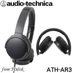 志達電子 ATH-AR3 Audio-technica 日本鐵三角 可折疊式耳罩式耳機 (台灣鐵三角公司貨)