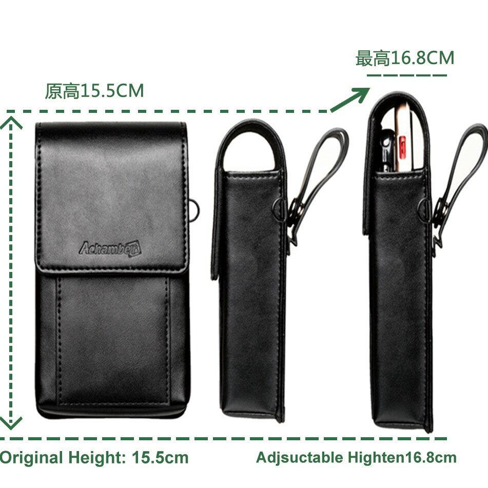 外銷歐美 可放2支手機 高級真皮直式雙機包+卡夾包 專利卡扣彎腰不卡卡 出口歐美🔹顛覆傳統腰掛皮套 隨心調整🔹 4