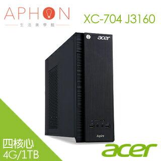 【Aphon生活美學館】acer XC-704 J3160 4G/1T Win10 桌上型電腦