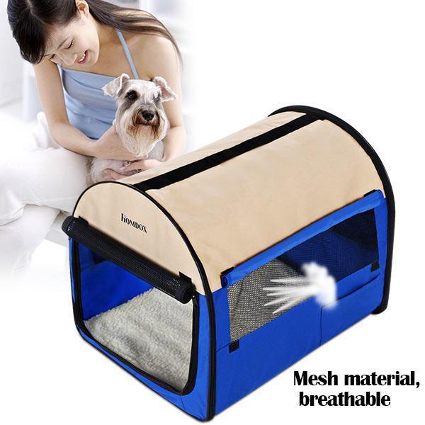 28inch Pet Dog Soft Crate With Door Window 0