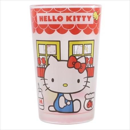 大賀屋 Hello Kitty 玻璃杯 水杯 茶杯 酒杯 透明 水晶 玻璃 杯子 凱蒂貓 KT 日貨 J00013691