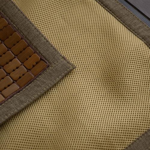 獨家涼夏坐墊【3D透氣包邊炭化專利】布繩織帶 / 底部透氣網布設計-單人座-麻將坐墊 - 絲薇諾 1