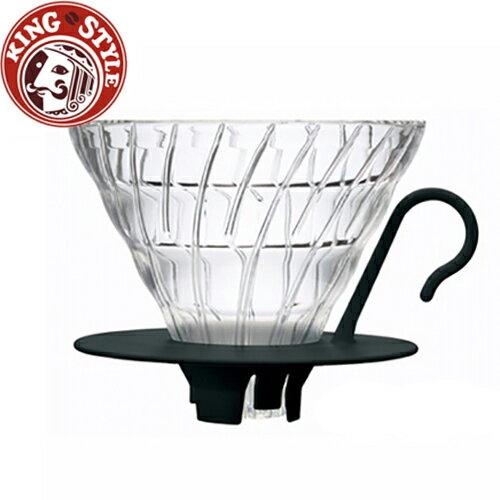 金時代書香咖啡 HARIO V60黑色02好握玻璃濾杯1~4杯 VDGN-02B