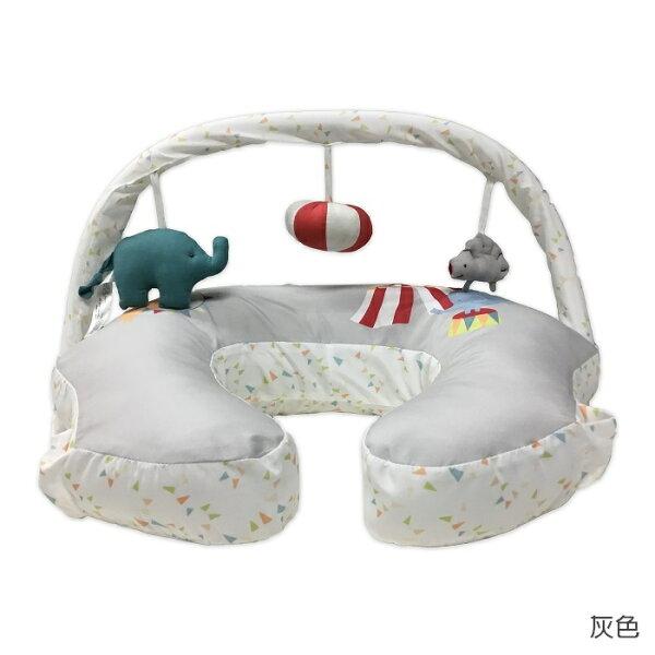 Comfort&Harmony哺乳定型枕+玩偶架(灰底大象款)