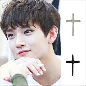 SEVENTEEN 同款韓國모노簡約長十字耳環 (單只價)