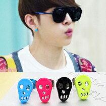 【特價】BEAST 龍俊亨 同款韓國미니해골컬러骷髏臉孔造型糖果色耳釘耳環 (單支價)