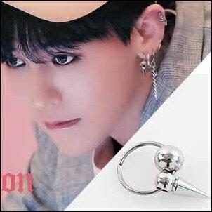BIGBANG權志龍同款韓國러스트尖錐圓珠圓環/無耳洞耳夾耳環(單支價)