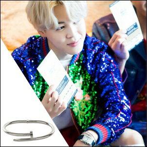 防彈少年團 BTS Jimin 同款韓國로건 流線形釘子手鍊手環