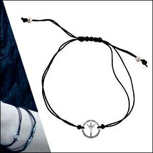 EXO Xiumin 同款韓國?? 和平符號吊墜細手繩手鍊