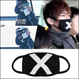 INFINITE Hoya  炎亞綸 同款韓國블랙포인트마스크 X字母口罩