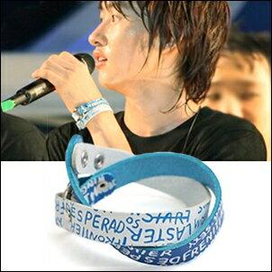 Super Junior 銀赫 同款印花字母多層次雙色皮帶式皮革手環手鍊