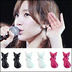 少女時代 太妍 同款簡單可愛Baby Cat 迷你貓咪 耳釘耳環  一對