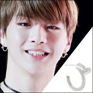 WannaOne姜丹尼爾同款韓國미라주圓釘造型耳環(一對)