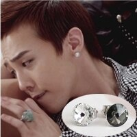   Star World。Earring    BIGBANG GD 權志龍 同款簡單時尚水晶圓耳釘耳環 (單支價)