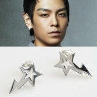   Star World。Earring    BIGBANG TOP 崔勝賢 同款星星閃電耳釘耳環 (單支價)